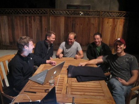 Mark Zuckerberg and FriendFeed Co-Founders (with 50 million reasons to celebrate) Photo: Mashable