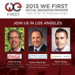 Speaker Shout Out: Coca-Cola, UN Foundation, and charity: water at the 2013 We First Seminar