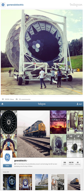 How GE uses Instagram