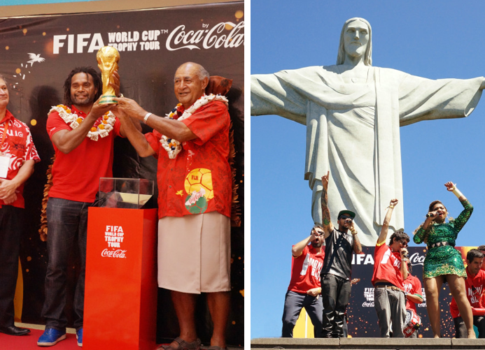 coca-cola world cup trophy tour